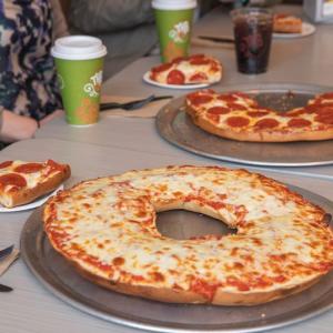 super bowl sunday pizza bagel